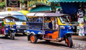 arnaque en thailande, tuktuk, visa thailande, aéroport travailler en Thaïlande, expatriation, retraite, permis de travail, société, BOI, investir