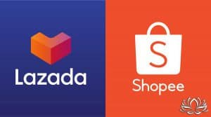 Lazada et Shopee, la guerre des géants de la vente en ligne thaïlandaise.