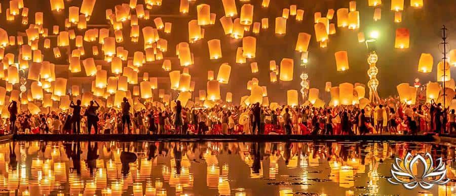 festival des lanternes à Chiang Mai dans le nord de la Thaïlande