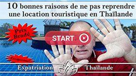 location touristique à reprendre en Thaïlande, guesthouse à vendre