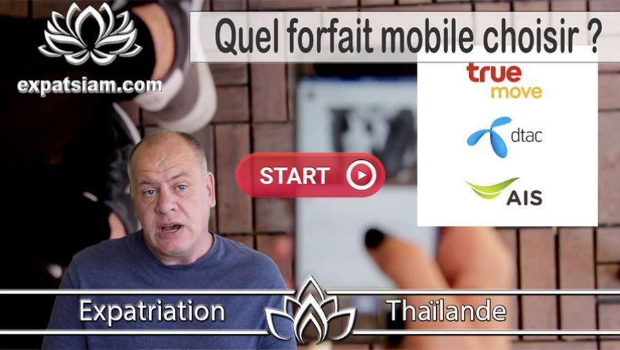 quel forfait mobile choisir pour la thailande
